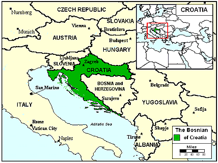 Bosniak in Croatia map
