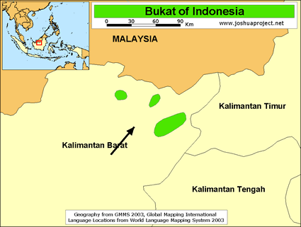 Bukat in Indonesia map