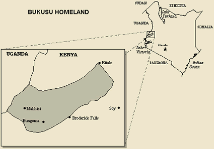 Luhya, Bukusu in Kenya map