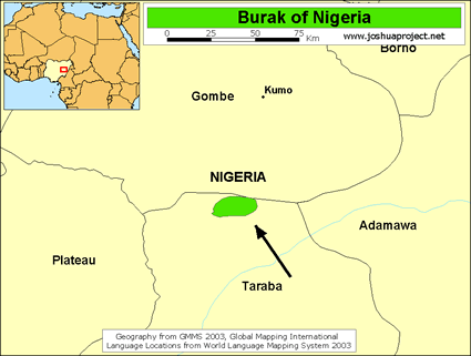 Burak in Nigeria map