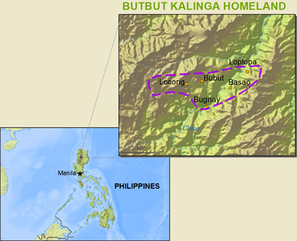 Kalinga, Butbut in Philippines map