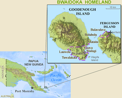 Bwaidoga, Mataitai in Papua New Guinea map