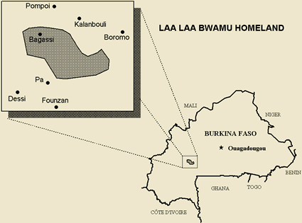 Bwamu, Laa Laa in Burkina Faso map