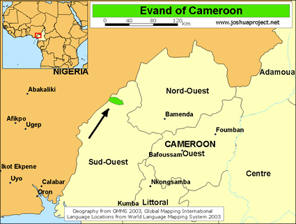 Evand in cameroon ethnic people profile for 10 40 window prayer points