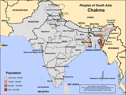 Chakma in India map