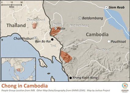 Chong in Cambodia map