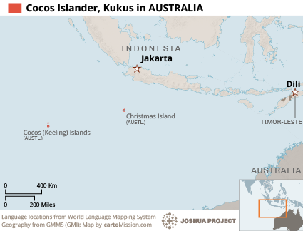Malay, Cocos Islands in Australia map