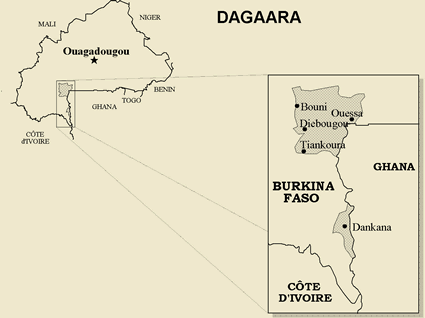 Dagara in Burkina Faso map
