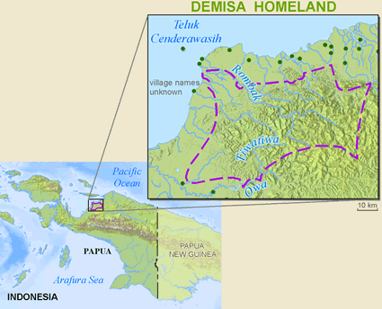 Demisa in Indonesia map