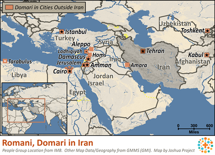 Romani Domari in Iran Ethnic People Profile