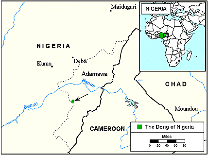 Dong in Nigeria map
