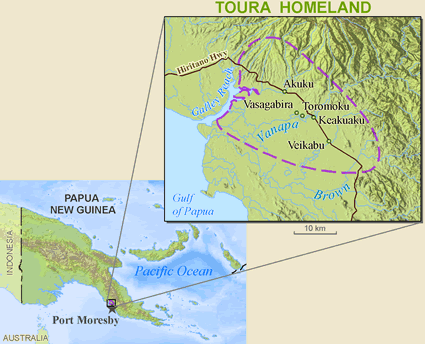 Doura in Papua New Guinea map