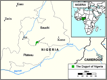 Duguri in Nigeria map