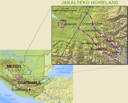 Jacalteco in United States map