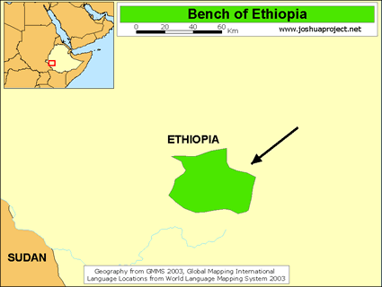 Bench in Ethiopia map