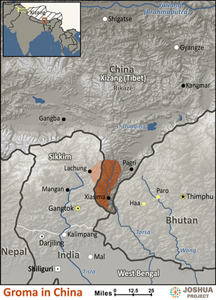Groma in China map