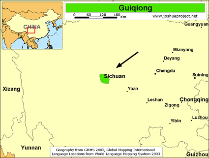 Guiqiong in China map