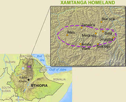 Ximre in Ethiopia map