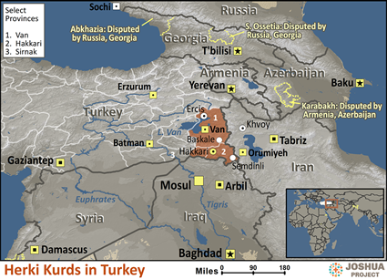 Herki in Turkey map