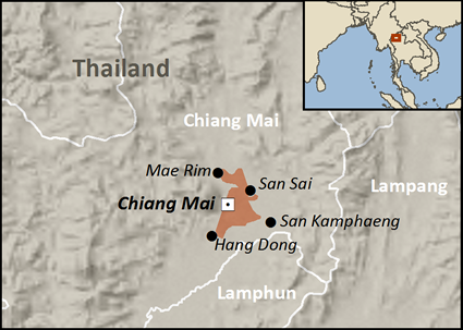 Hui in Thailand map