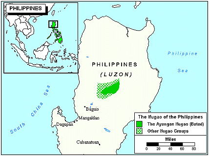 Ifugao, Batad in Philippines map