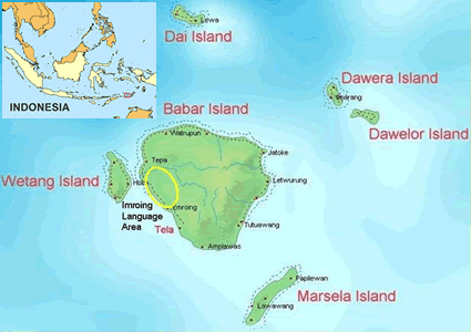 Imroing in Indonesia map