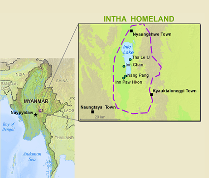 Intha in Myanmar (Burma) map