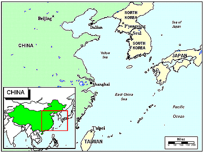 Japanese in China map