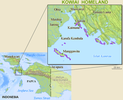 Kaiwai, Adi in Indonesia map