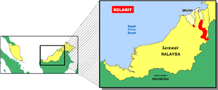 Kelabit in Indonesia map