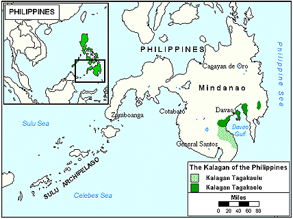 Kalagan in Philippines map