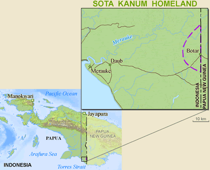 Kanum, Sota in Indonesia map