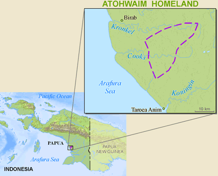 Kaugat, Atohwaim in Indonesia map