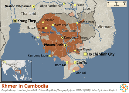 Khmer in Cambodia map