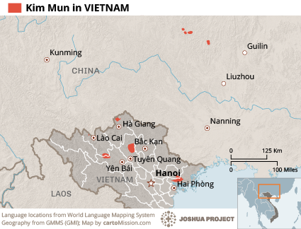 Kim Mun in Vietnam map