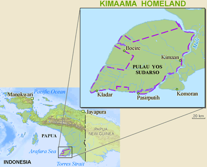 Kimaghima in Indonesia map