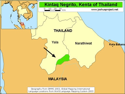 Kintaq in Thailand map