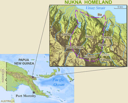 Nukna in Papua New Guinea map