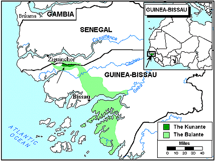 Ethnic People Groups Of GuineaBissau Joshua Project - Guinea bissau map quiz