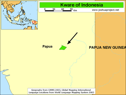 Kware in Indonesia map