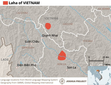 Laha in Vietnam map