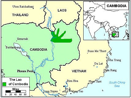 Lao in Cambodia map