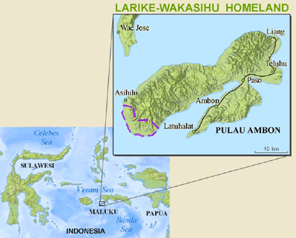 Larike-Wakasihu in Indonesia map