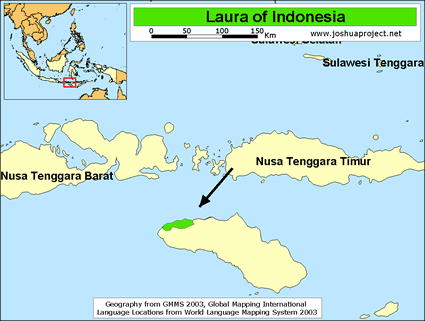 Laura in Indonesia map