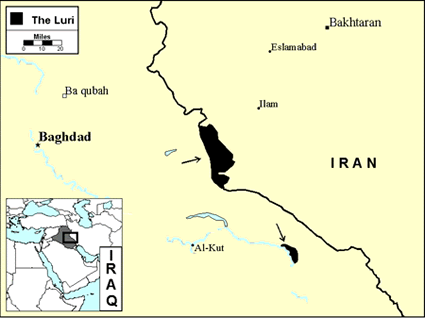 Luri, Northern in Iraq map