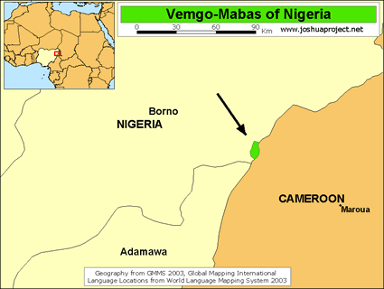 Vemgo-Mabas, Visik in Nigeria map