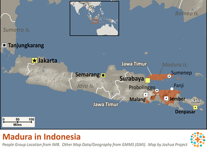Madura in Indonesia map