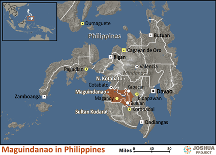 Maguindanao in Philippines map