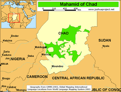 Mahamid in Chad map