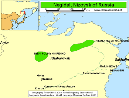 Negidal, Nizovsk in Russia map